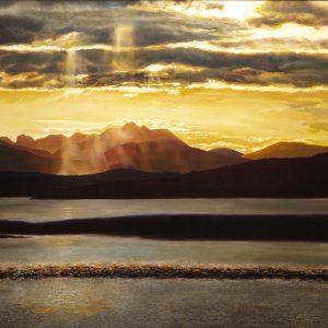 Julia Christie Sunset painting