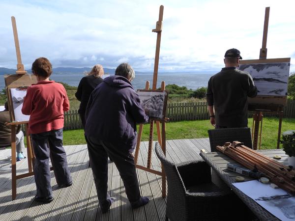 KnoydART Skye painting holidays