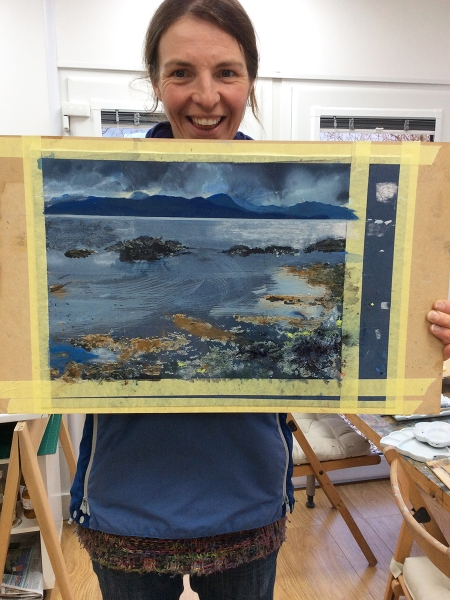 Julia Christie painting on Skye students 09